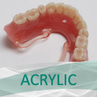 Acrylic, full and partial dentures